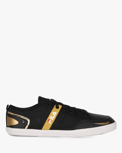 Destroy Panelled Lace-Up Shoes By FILA ( Black )