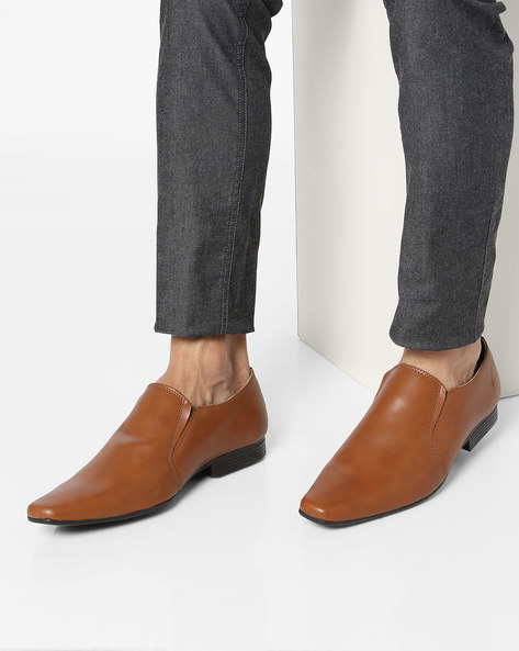 Slip-On Shoes With Elasticated Gussets By Bond Street By Red Tape ( Tan )