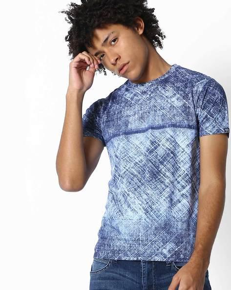 Acid Wash Slim T-shirt By Pepe Jeans ( Indigo )