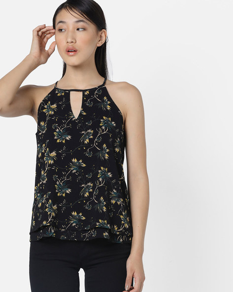 Floral Print Top By Only ( Multi )