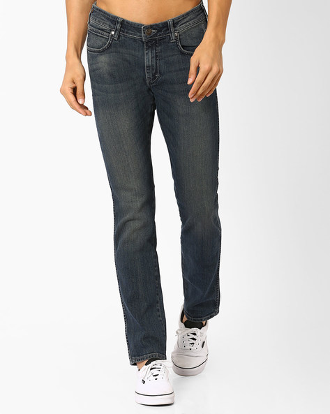 Slim Fit Lightly Washed Jeans By WRANGLER ( Stone ) - 440731534004