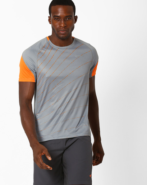 Reflective Running T-shirt With Quick Dry By PERFORMAX ( Medgrey )