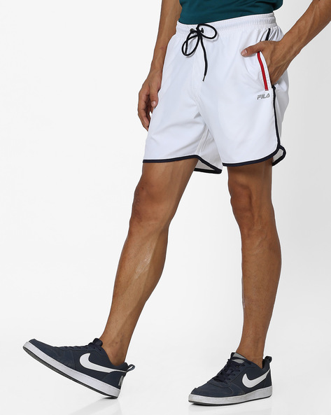 Shorts With Contrast Seams By FILA ( White )