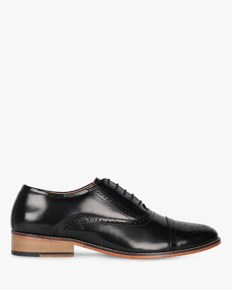 Formal Lace-Up Shoes With Broguing By Buckle Up ( Black )
