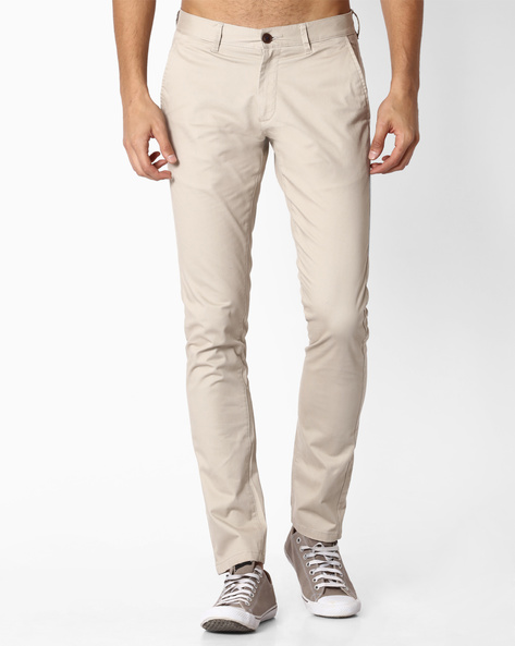 Chinos With Welt Pockets By NETPLAY ( Stone )