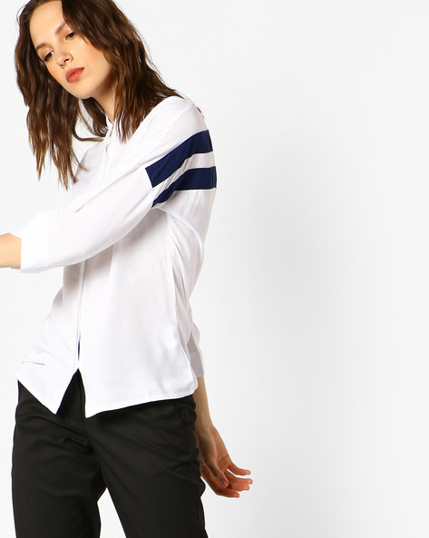 Shirt With Concealed Button Placket By Teamspirit ( White )