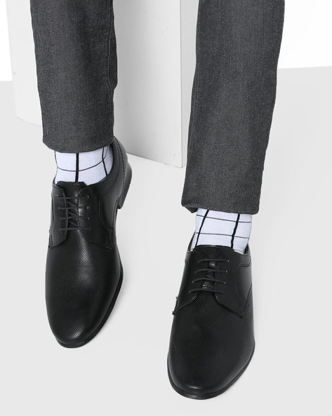 Textured Derby Shoes By Bond Street By Red Tape ( Black )