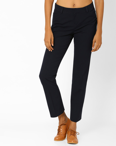 Ankle-Length Trousers By Annabelle By Pantaloons ( Navyblue )