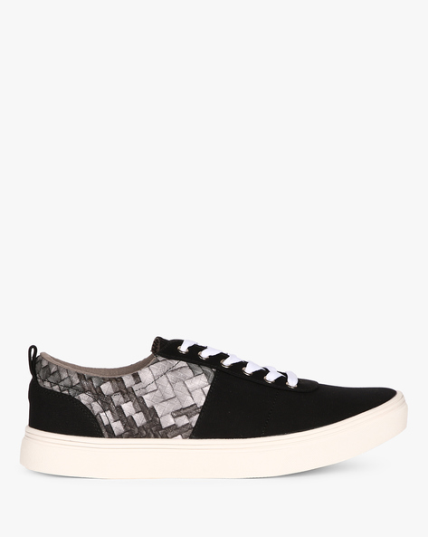 Low-Top Sneakers With Printed Panel By Nuboy ( Black )