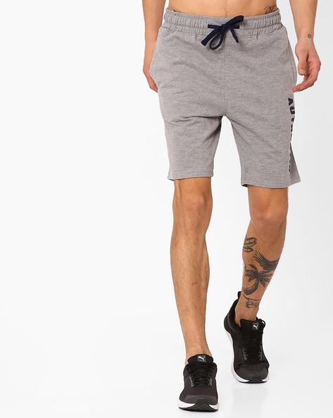 Shorts With Contrast Drawstring By AJIO ( Greymelange )