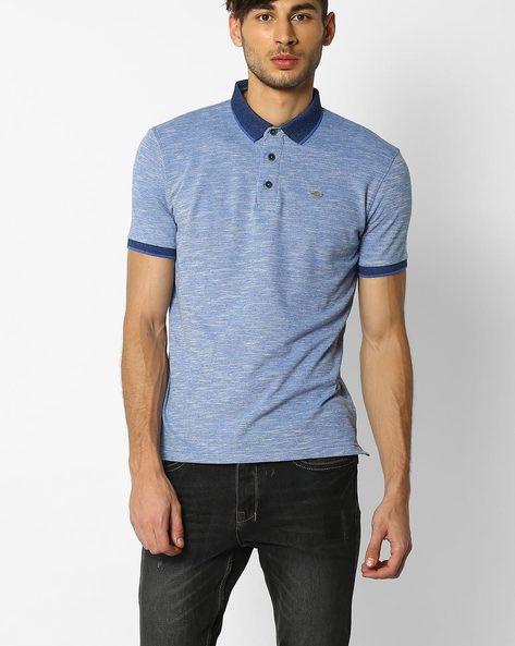 Slub Knit Polo T-shirt By NETPLAY ( Maroonburg )