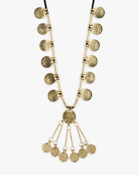 Metal Coin Tribal Necklace By Indie Picks ( Gold )