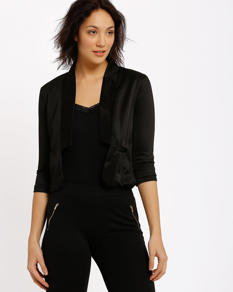 Blazer With Shawl Neckline By Annabelle By Pantaloons ( Black )