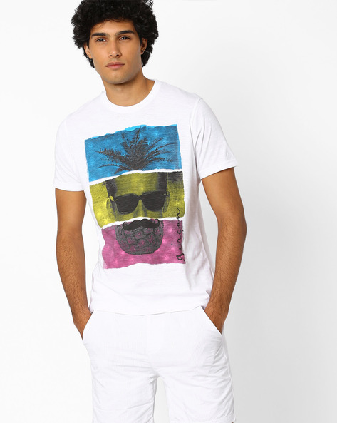 Graphic Print T-shirt By Garcon ( White ) - 460060447007