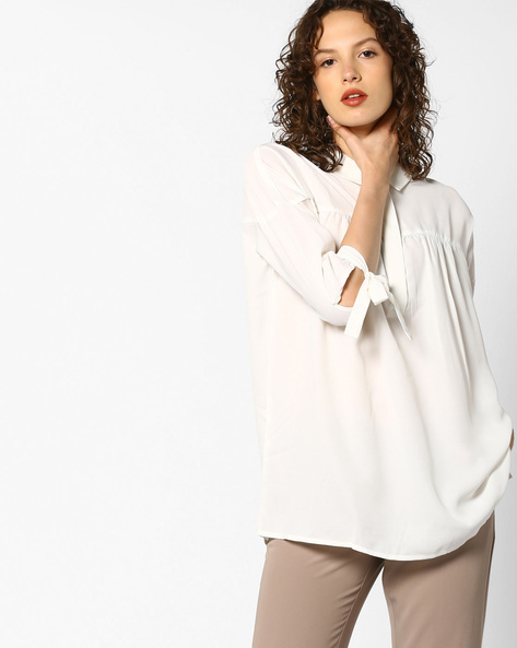 Tunic With Shirt Collar By Project Eve WW Work ( Offwhite )