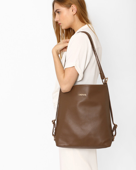 Sling Bag With Multipurpose Straps By Daphne ( Khaki )