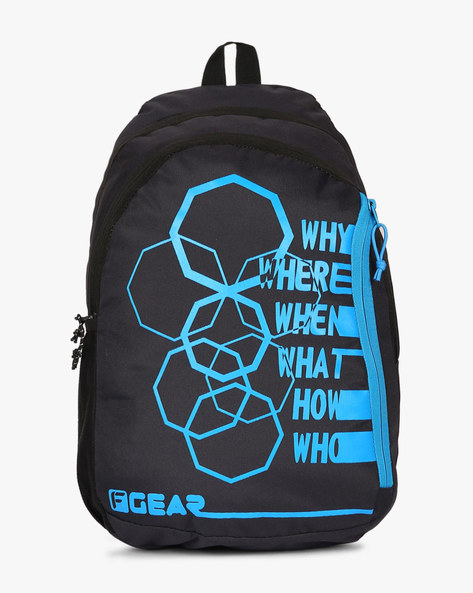 Printed Diamond Backpack By F-GEAR ( Blue )