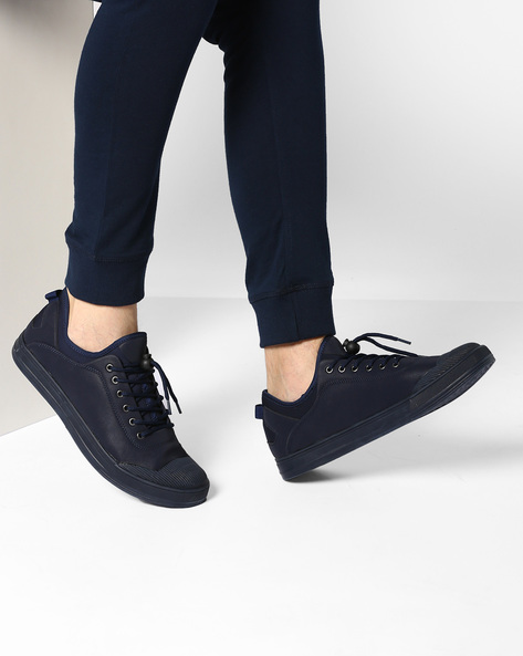 Sneakers With Lace-Up Fastening By Muddman ( Navy )
