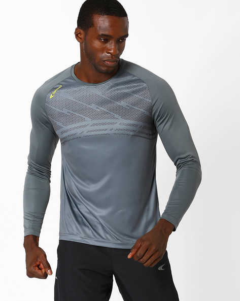 Quick Dry Running T-shirt By PERFORMAX ( Charcoal )