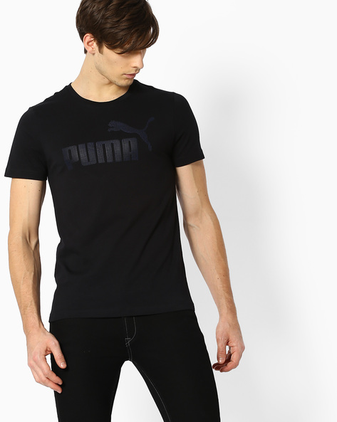 Crew-Neck Slim Fit T-shirt By Puma ( Black )