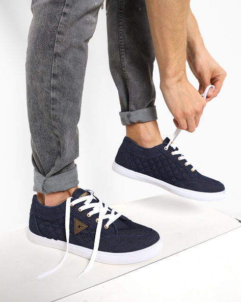 Low-Top Shoes With Lace-Ups By SPARX ( Navyblue )