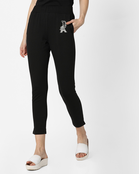 Ankle-Length Lounge Pants By Mystere Paris ( Black )