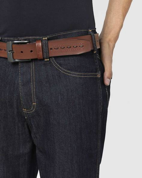 Leather Belt With Stitch Detailing By US POLO ( Brown )