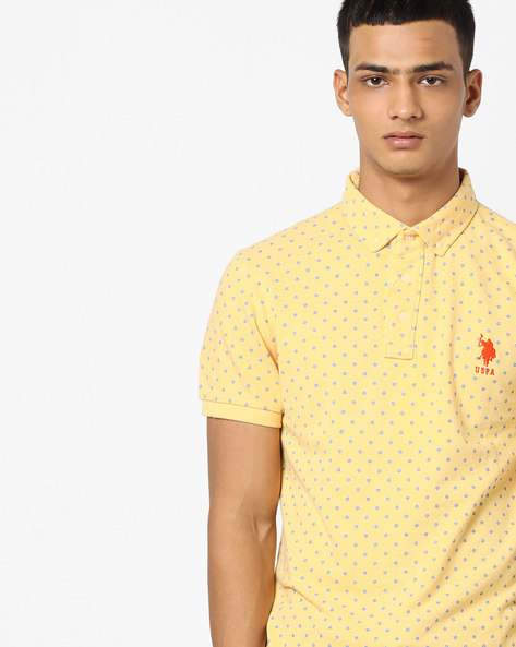 Printed Button-Down Polo T-shirt By US POLO ( Assorted )