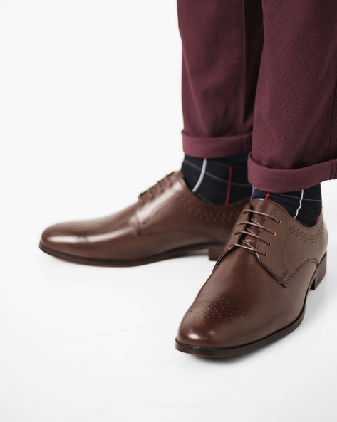 Brogue Derby Shoes By Bond Street By Red Tape ( Brown )
