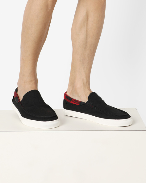 Slip-On Shoes With Elasticated Gussets By Vans ( Black )