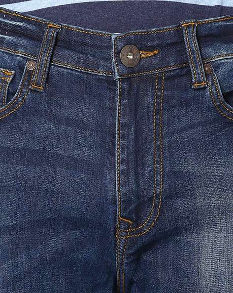 Lightly Washed Slim Jeans By Pepe Jeans ( Blue )