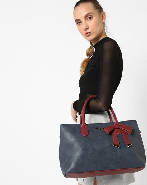Alexandria Handbag With Bow By CAPRESE ( Teal )