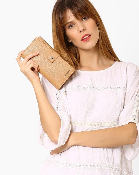 Textured Bi-Fold Wallet By Lino Perros ( Beige ) - 450097459001