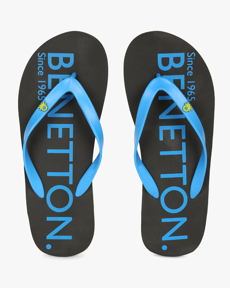 Thong-Style Flip-Flops By UNITED COLORS OF BENETTON ( Charcoal )