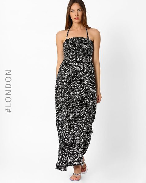 Amalfi Print Maxi Beach Dress By Marks & Spencer ( Black )