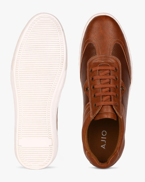Panelled Casual Shoes By AJIO ( Brown )