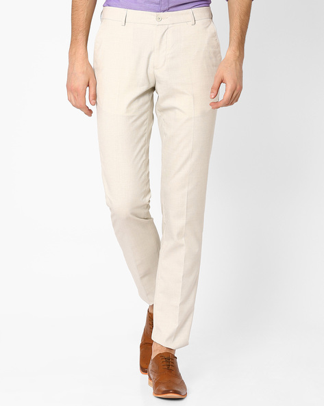 Straight Fit Formal Trousers By NETWORK ( Cream )
