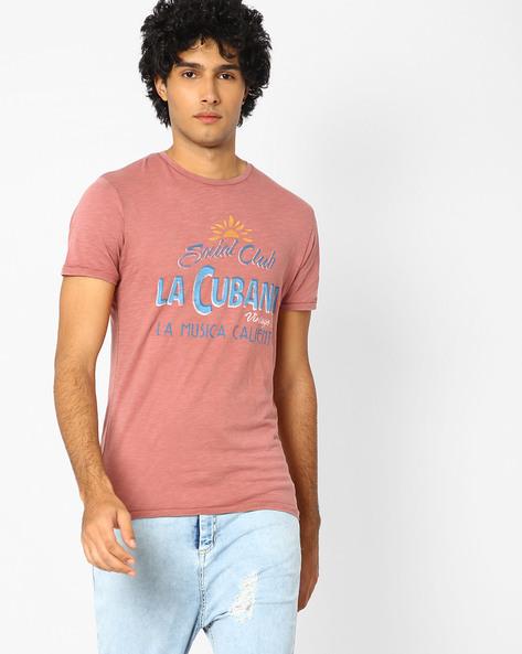 Slim Fit Printed T-shirt By Jack & Jones ( Maroon ) - 460061354003