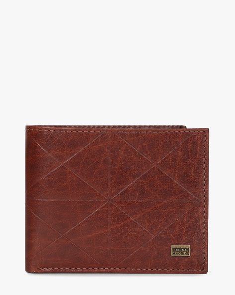 Genuine Leather Textured Wallet By FLYING MACHINE ( Brown )