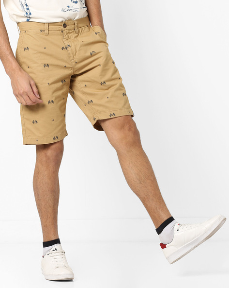 Printed Flat-Front Shorts By U.S. Polo Assn. ( Grey )
