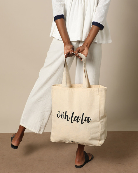 Multipurpose Cotton Canvas Tote Bag By The Art People ( White )