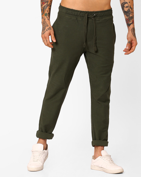 Cotton Track Pants With Drawstring Waist By US POLO ( Assorted )