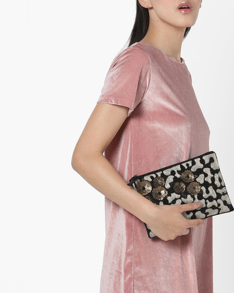 Clutch With Sequin Embellishments By Project Eve ( Multi )