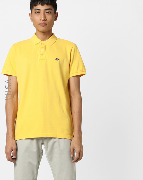 Polo T-shirt With Embroidered Branding By Aeropostale ( Lgtyellow )