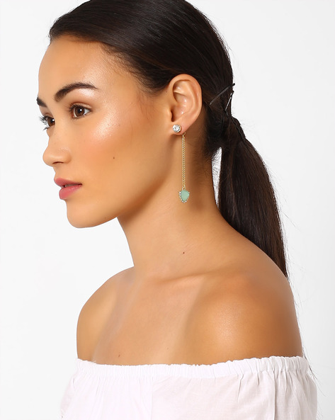 Crystal-Studded Ear Jackets By Pipa Bella ( Multi )