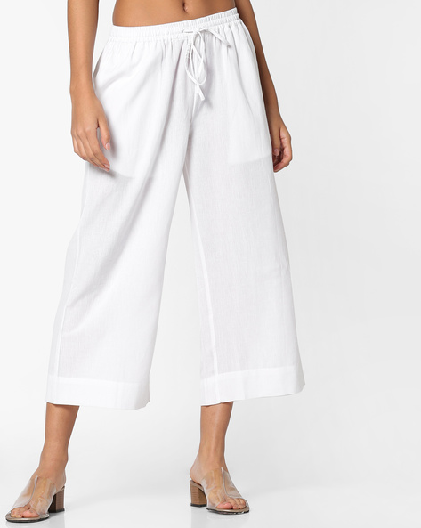 Mid-Rise Culottes With Tie-Up By Project Eve IW Casual ( White )