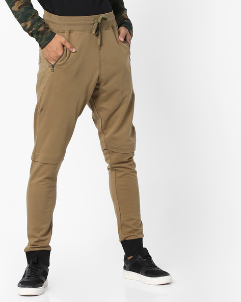 Mid-Rise Track Pants With Elasticated Waist By Garcon ( Olive )