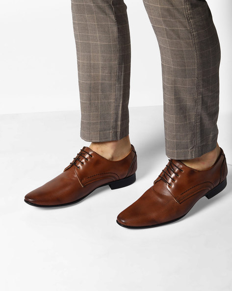 Textured Derby Shoes By Modello Domani ( Brown )