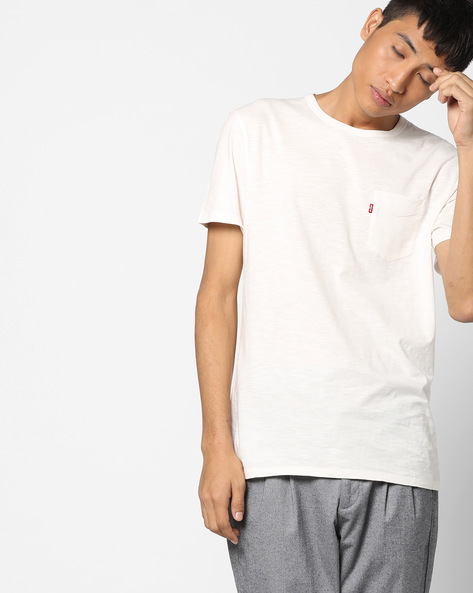 Knitted T-shirt With Flap Pocket By LEVIS ( White )