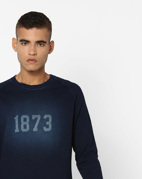 Crew-Neck Sweatshirt By LEVIS ( Blue )